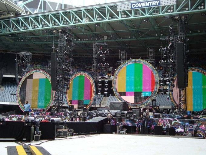 Coldplay Australian tour 2012
